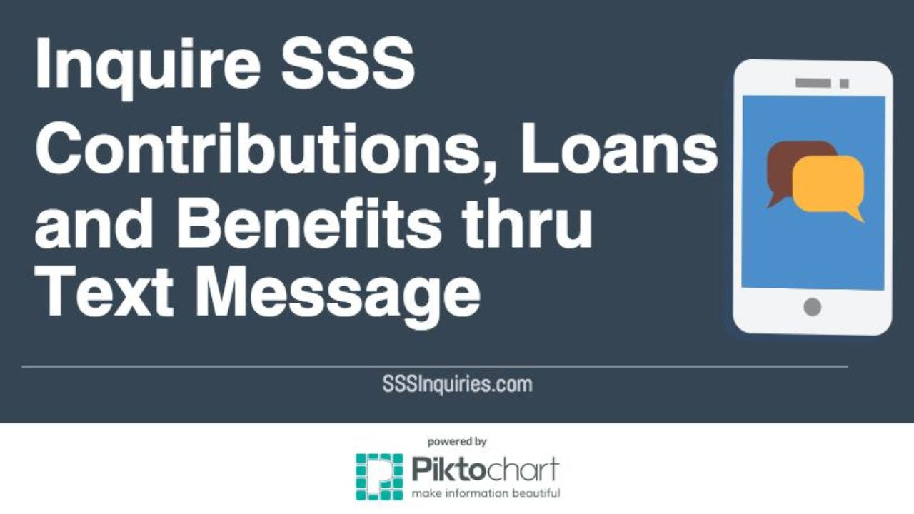 Inquire Sss Contributions Loans And Benefits Thru Text Message