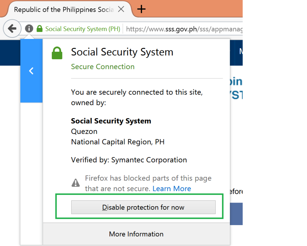 How to Access SSS Website using Google Chrome and Mozilla