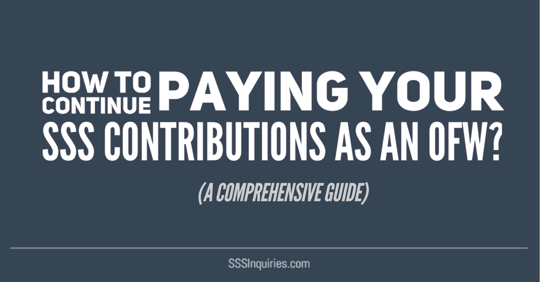 How To Continue Paying Your Sss Contributions As An Ofw Sss Inquiries