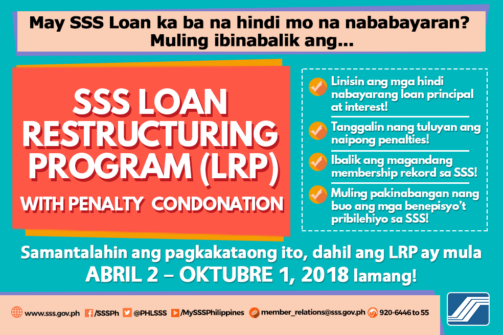 How to apply for sss loan restructuring program 2018 spiritdancerdesigns Gallery